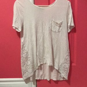 White Lace sides Abercrombie Kids Tee shirt